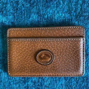 Dooney & Bourke Tane Pebbled Leather Card Holder